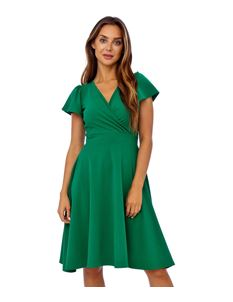 Clarence and Alabama Emma Waterfall Sleeved Wrap Dress