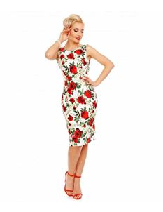 Dolly & Dotty Naomi Floral Scoop Back Pencil Dress