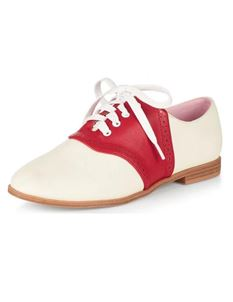 Collectif Ivory Red Elvira Bowling Flats