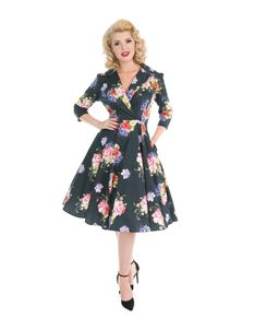 Hearts & Roses Stardust Floral Swing Dress