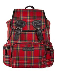 Banned Alternative Kenneth Tartan Backpack Rucksack Bag