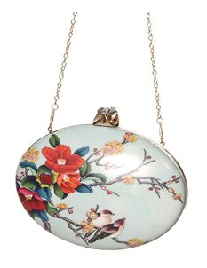 Dancing Days Vintage Style Socialite Bird Floral Bag