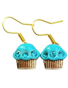 Shazazz Jewellery Blue Cup Cake Earrings