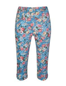 Lindy Bop Kendra Classic Floral Cropped Capri Trousers