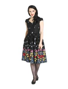 Hell Bunny Meadow 50s Style Butterfly Floral Dress