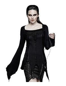 Punk Rave Suspiria Gothic A-Symmetric Alternative Top