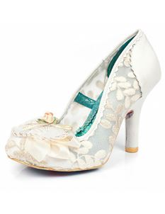 Irregular Choice Glinda Cream Bridal Heels