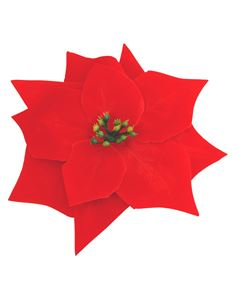 Gas Axe Inc Xmas Poinsettia Hair Flower Clip Brooch