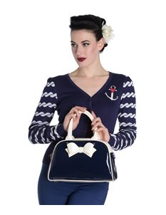 Hell Bunny Lola Patent Bowling Bag
