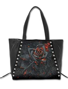 Spiral Direct Burnt Rose Stud Tote Alternative Bag