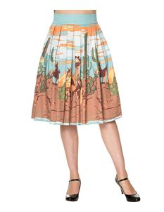 Magical Day Dancing Days 50s Style Cowgirl Desert Skirt