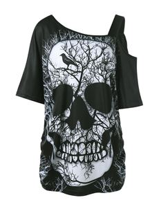 Kittieskabin Plus Size Skull Top