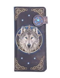 Lisa Parker Wild One Wolf Embossed Purse 18.5cm