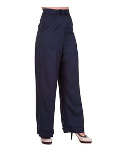 Banned Dancing Days 40s Navy Retro Hidden Away Trouser