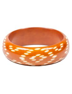 Splendette Brown Carved Mexican Bangle