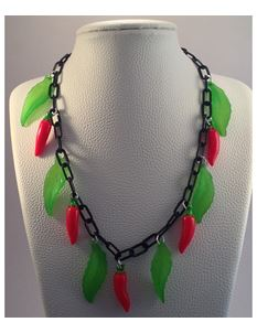 1940s Inspired Chilli Pepper Necklace By Voodoo Betty