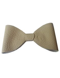 Said Lucy Recycled Fake Leather Cream Bow