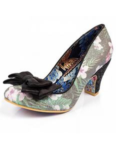 Irregular Choice Ban Joe Black Tropical Flower Size 36
