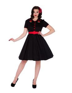 Dolly & Dotty Sherry Black 50s Style Dress
