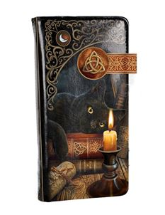 Lisa Parker Witching Hour Cat Embossed Purse 18.5cm