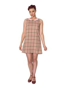 Dancing Days Small Time Girl Check 60s Shift Dress