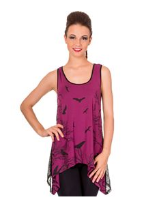 Banned Purple Hells Bells Vest Top