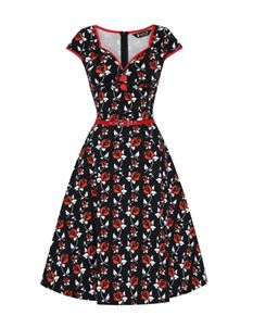 Lady Vintage Isabella Wonderland Red Rose 50s Dress