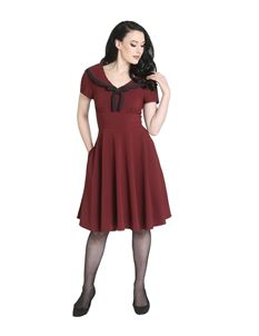 Hell Bunny Thea 40s 50s Vintage Style Dress