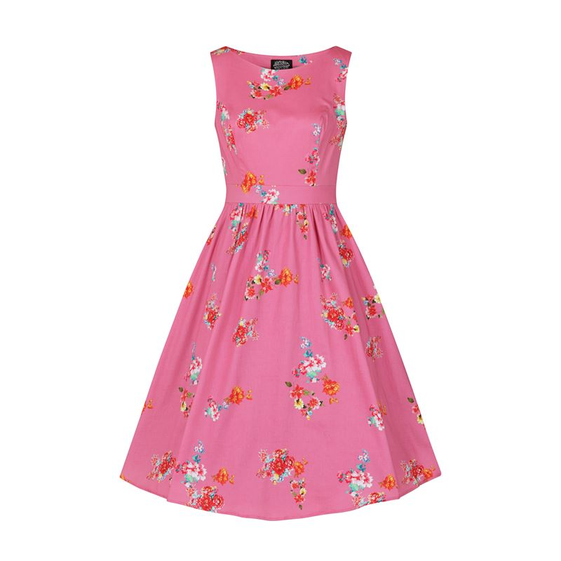 Hearts & Roses Polly Swing Floral 50s Audrey Dress