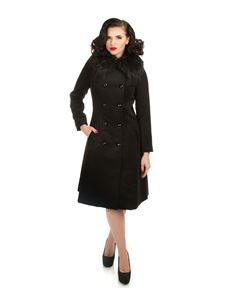 Hearts & Roses Black Chrissette Coat