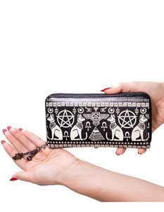 Banned Anubis Pentagram Egyptian Sphynx Wallet Purse