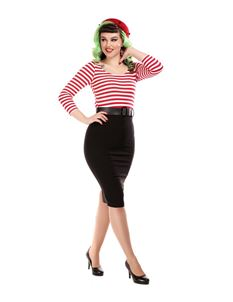 Collectif Mainline Manuela Striped Pencil Dress