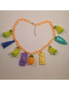 1940s Inspired Fruit Tiki Necklace By Midcentury Missy