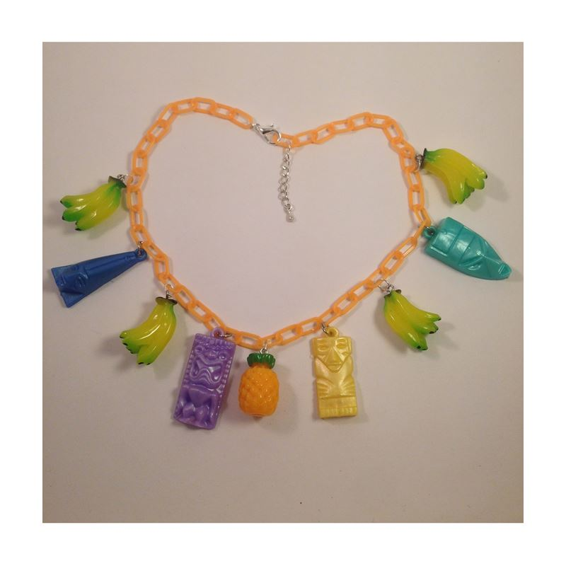 Voodoo Betty 1940s Inspired Fruit Tiki Necklace