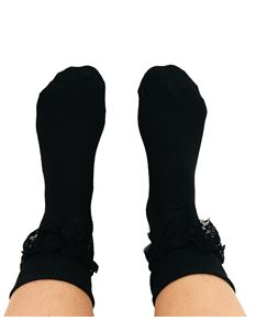 Silly Old Sea Dog Black Lace Socks