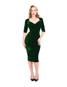 Zoe Vine Emerald Camilla Velvet Dress