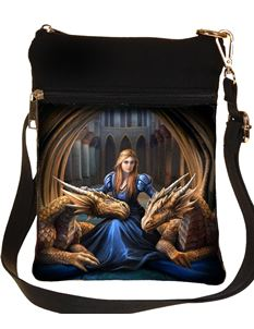 Nemesis Now Fierce Loyalty Dragon Bag By Anne Stokes