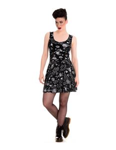 Spin Doctor Ouija Board Pentagram Mini Dress Black
