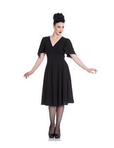 Hell Bunny Carolina Vintage Style Party Dress In Black