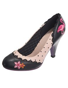 Dancing Days Rayna Cherry Flamingo Polka Dot Shoes
