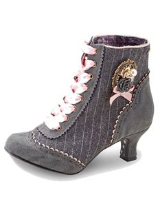 Joe Browns Tweedy Ambrose Vintage Grey Heeled Shoe Boot