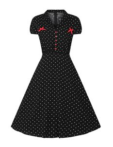 Hell Bunny Allie Heart 50s Style Valentine Dress