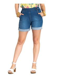 Hell Bunny Nash Turn-Up Denim Rockabilly Shorts