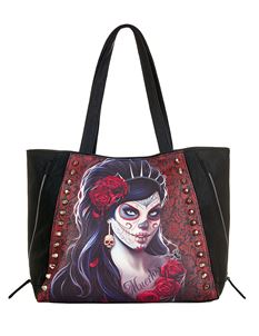 Spiral Direct Day of the Dead Tote Alternative Bag
