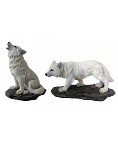 Nemesis Now Before The Chase Set Of 2 Wolf Ornaments