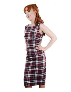 Primm Rose Clothing Tartan Wiggle Dress