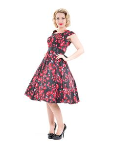 Hearts & Roses Taffeta Red Rose Day Dress
