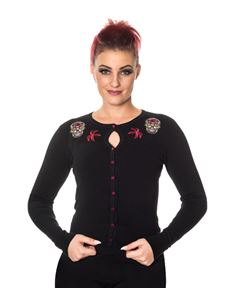 Banned Black Sugar Skull Emerie Cardigan
