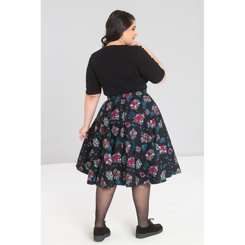 Hell Bunny Poseidon Octopus Nautical 50s Circular Skirt