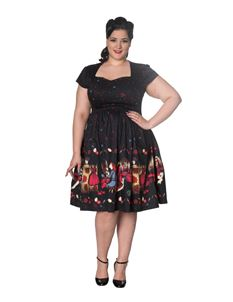 Banned Apparel Dancing Days Vanity 1950s Swing Dress